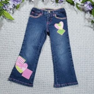 Lilly Pulitzer toddler girl 3t patchwork jeans